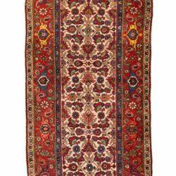 """Antique Persian Bidjar 3'7""""×18'0"""""""