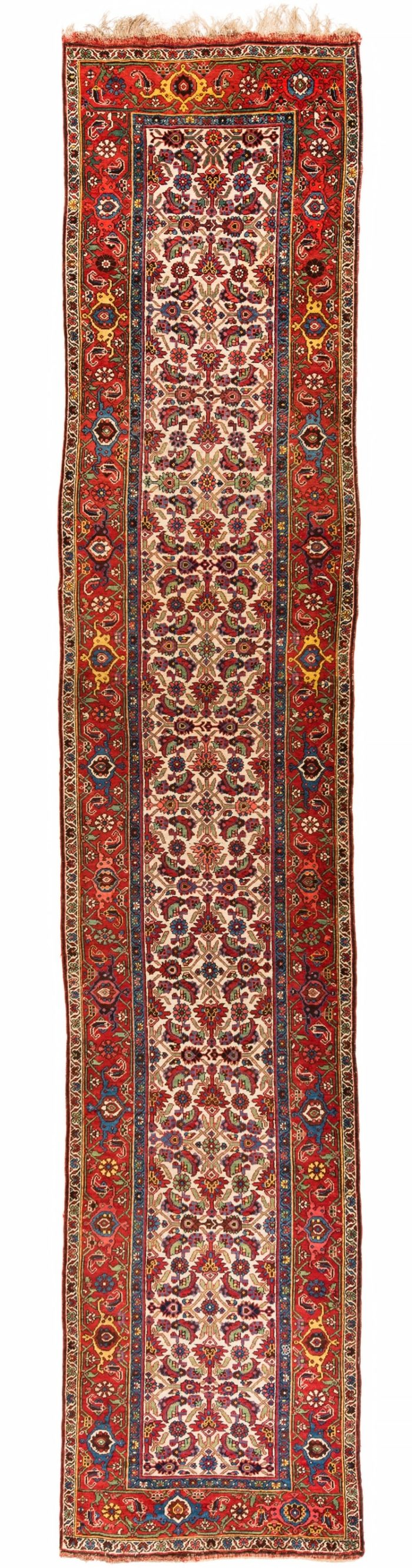 "Antique Persian Bidjar 3'7""×18'0"""