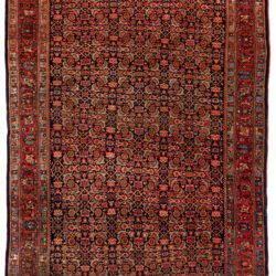 "Antique Persian Bidjar 4'8""×7'2"""