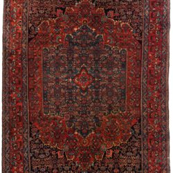"Antique Persian Bidjar 4'5""×6'7"""