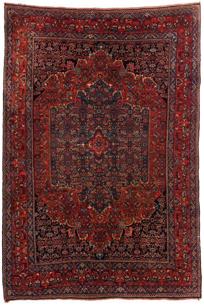"""Antique Persian Bidjar 4'5""""×6'7"""""""