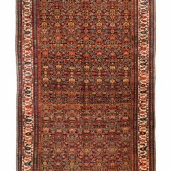 "Antique Persian Bidjar 7'5""×20'6"""
