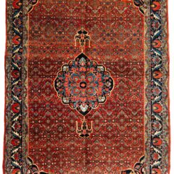 "Antique Persian Bidjar 7'5""×12'3"""