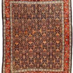 "Antique Persian Bidjar 8'3""×11'0"""