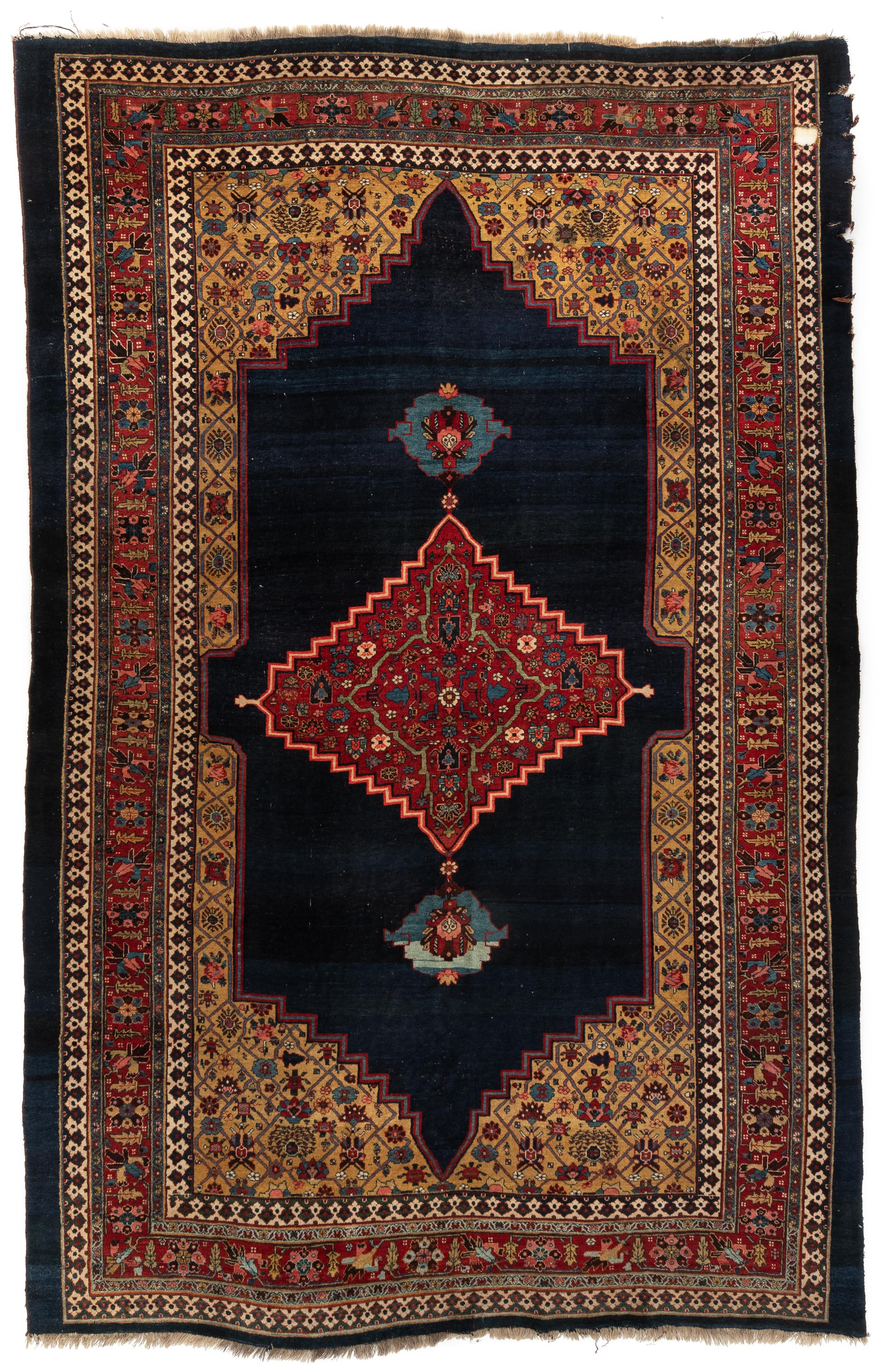 "Antique Persian Bidjar 7'7""×11'1"""