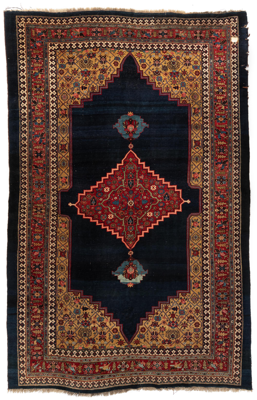"""Antique Persian Bidjar 7'7""""×11'1"""""""