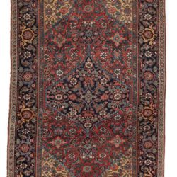 "Antique Persian Bidjar Rug 4'3""×7'2"""
