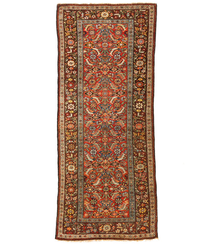 "Antique Persian Bidjar Runner 3'8""×8'10"""