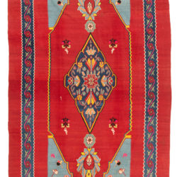 "Antique Persian Bidjar Tribal Kilim 7'7""×14'3"""