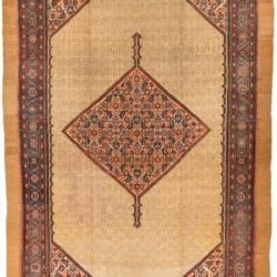 "Antique Persian Camel Hair Serab 10'6""×16'11"""
