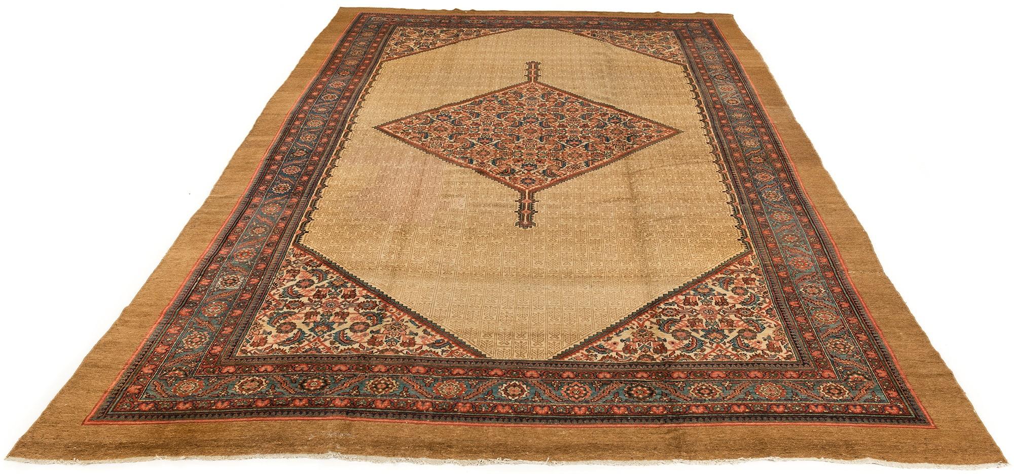 Antique Persian Camel Hair Serab 10 6