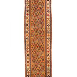 "Antique Persian Camel Hair Serab 3'4""×12'8"""