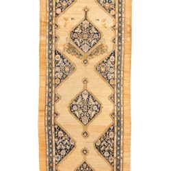 "Antique Persian Camel Hair Serab 3'11""×11'11"""