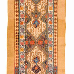 "Antique Persian Camel Hair Serab 3'0""×12'10"""