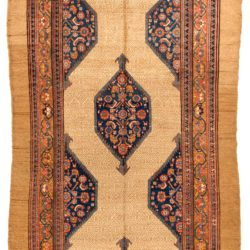 "Antique Persian Camel Hair Serab 6'0""×11'8"""