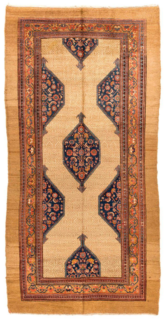 "Antique Persian Camel Hair Serab 6'0""×11'8"""
