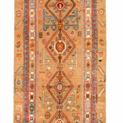 "Antique Persian Camel Hair Serab 3'4""×13'6"""