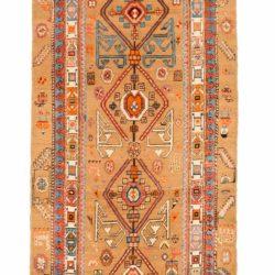 "Antique Persian Camel Hair Serab 3'4""×13'6"""