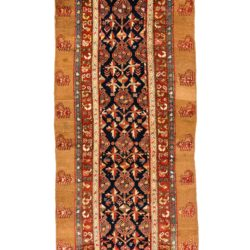 "Antique Persian Camel Hair Serab 4'9""×15'1"""