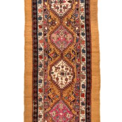 "Antique Persian Camel-hair Serab 3'9""×13'0"""