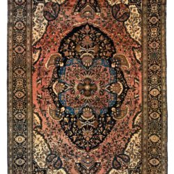 "Antique Persian Faraghan Sarouk 4'2""×6'5"""