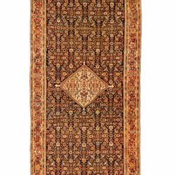 "Antique Persian Farahan 8'6""×18'8"""