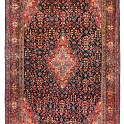 "Antique Persian Farahan 4'5""×6'8"""