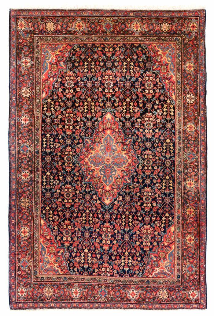 "Antique Persian Farahan 4'5""×6'8"""