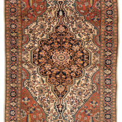"Antique Persian Ferahan 3'3""×4'10"""