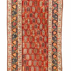"Antique Persian Genje 3'7""×14'1"""