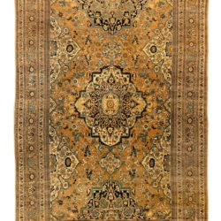 "Antique Persian Haji Jalili Tabriz 8'0""×12'0"""