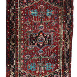 "Antique Persian Hamadan 2'6""×4'1"""