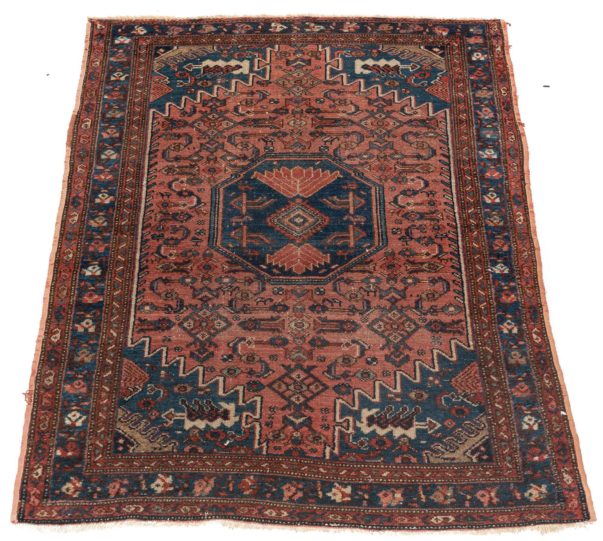"Antique Persian Hamadan 3'2""×4'11"""