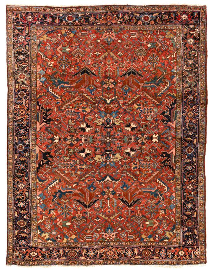 "Antique Persian Heriz 8'2""×9'8"""