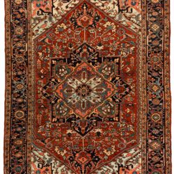 "Antique Persian Heriz 7'9""×10'0"""