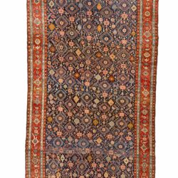 "Antique Persian Heriz 7'11""×17'4"""