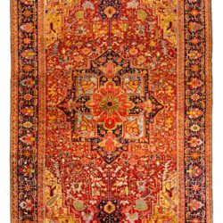 "Antique Persian Heriz 11'4""×18'10"""