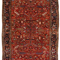 "Antique Persian Heriz 7'9""×11'0"""