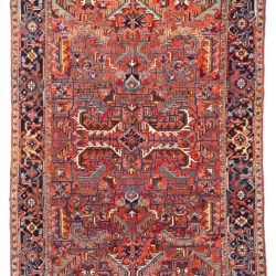 "Antique Persian Heriz 7'7""×10'7"""