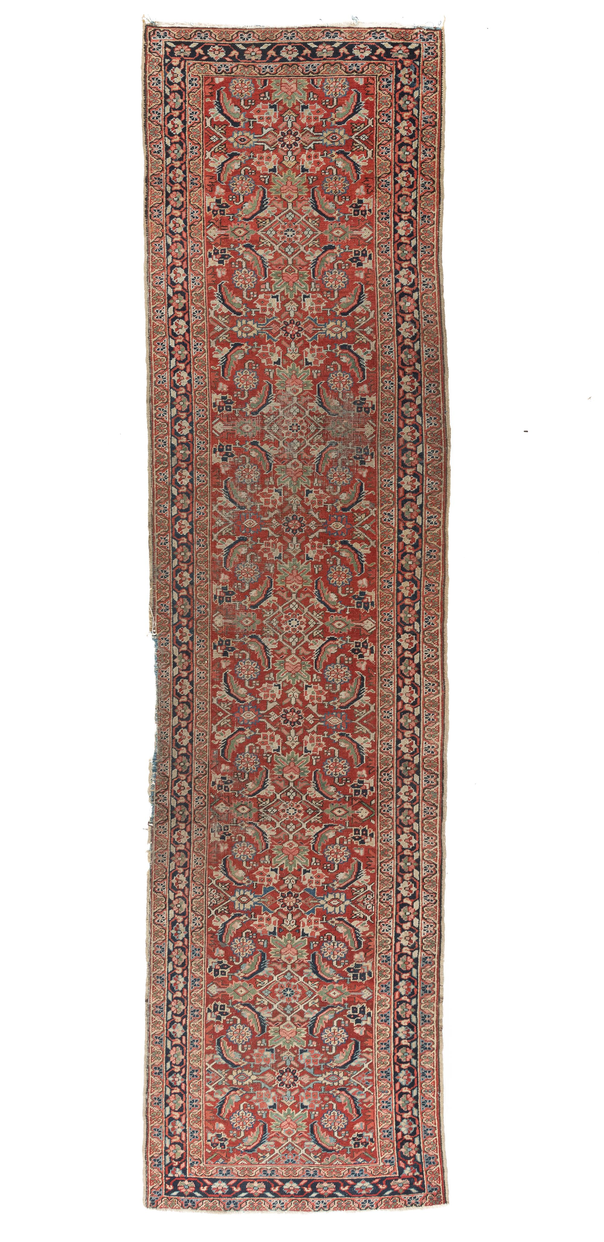 "Antique Persian Heriz 3'5""×13'6"""