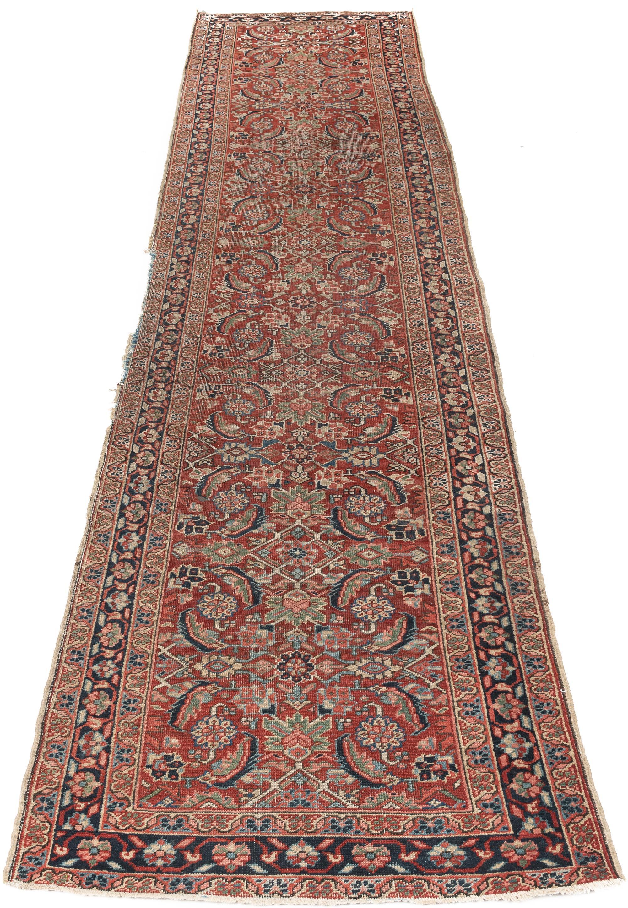"Antique Persian Heriz 3'5""×13'6"""