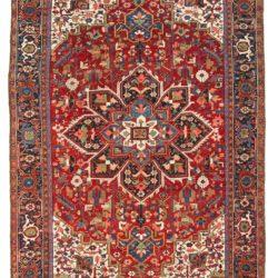 """Antique Persian Heriz Rug 7'8""""×10'11"""""""