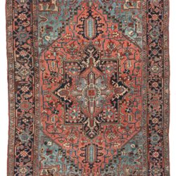 "Antique Persian Heriz Rug 6'10""×10'1"""