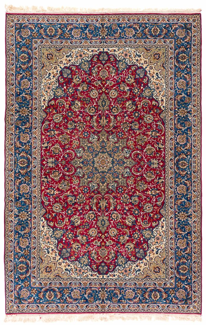 "Antique Persian Isfahan 8'4""×11'9"""