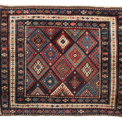 "Antique Persian Jaf Kurd Rug 2'10""×3'6"""