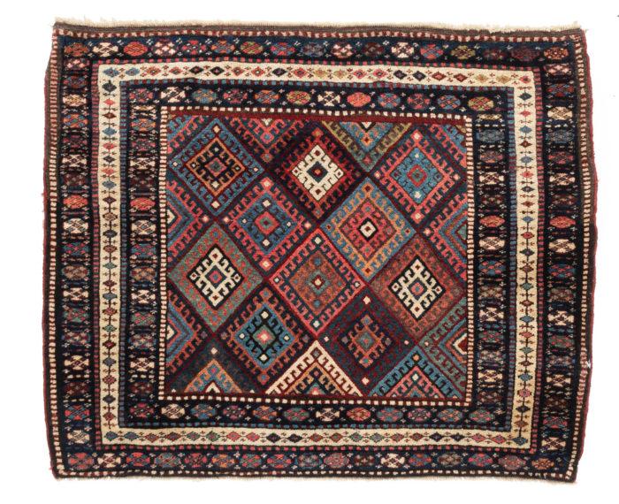 "Antique Persian Jaf Kurd Rug 2'10""×3'6"""