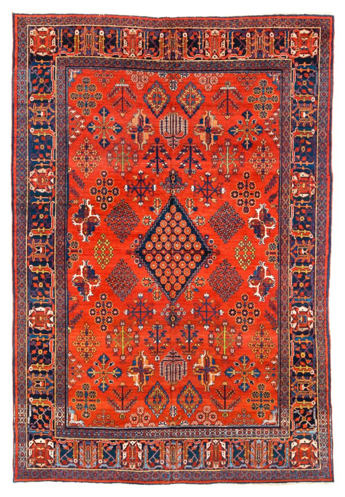 "Antique Persian Josheghan 7'7""×11'0"""