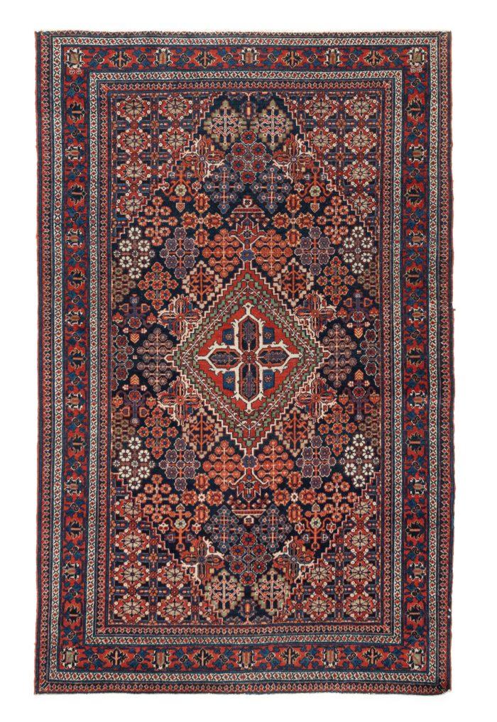 """Antique Persian Josheghan 4'2""""×6'10"""""""
