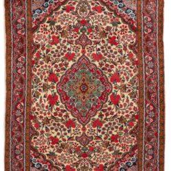 """Antique Persian Jozan Sarouk 3'7""""×4'11"""""""