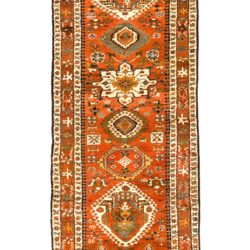 "Antique Persian Karadja 3'10""×11'11"""